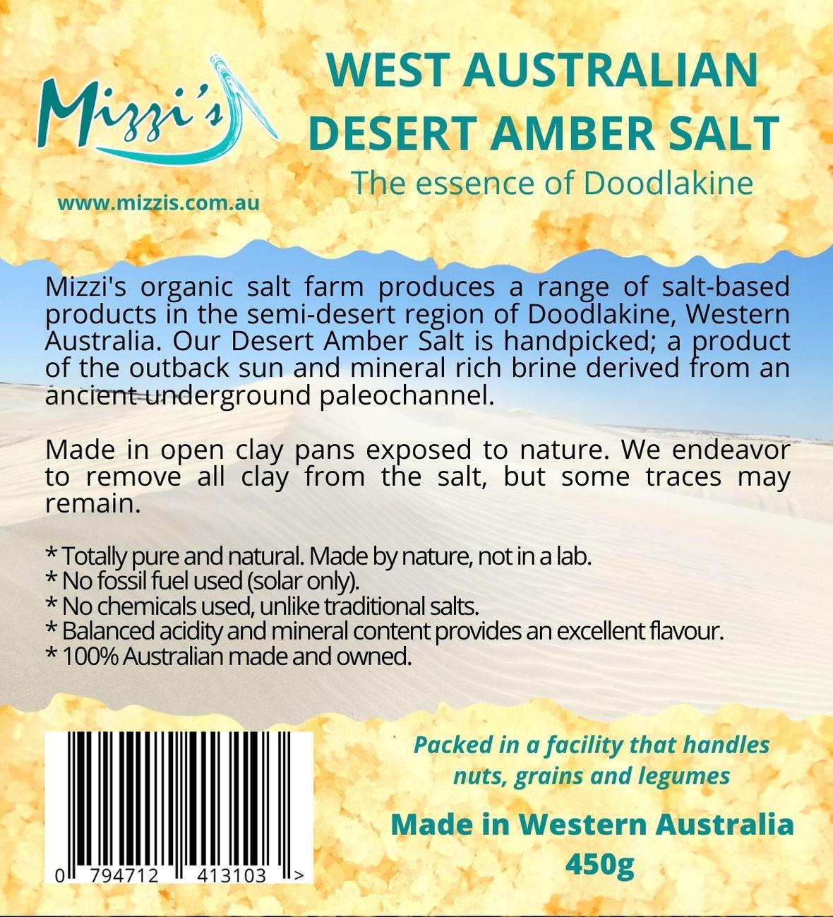 West Australian Amber Desert Salt – 450g